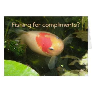 Goldfish Funny Greeting Card