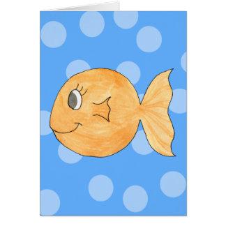 Goldfish. Greeting Card