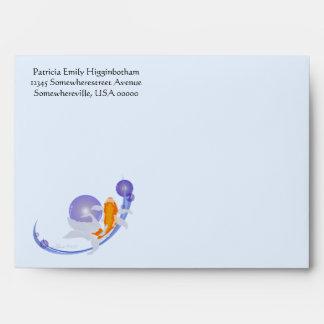 Goldfish greeting card envelope