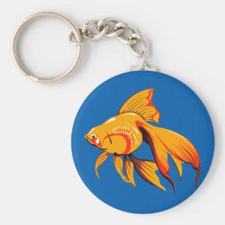 Goldfish hermoso llavero redondo tipo pin