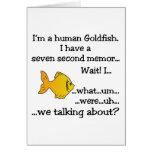 Goldfish humano tarjeta