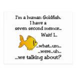 Goldfish humano tarjeta postal