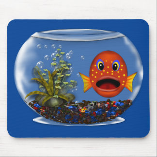 Goldfish in a bowl mouse pad