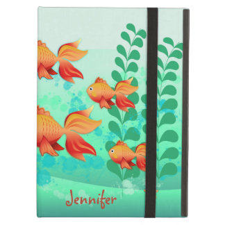 Goldfish in a turquoise ocean case for iPad air