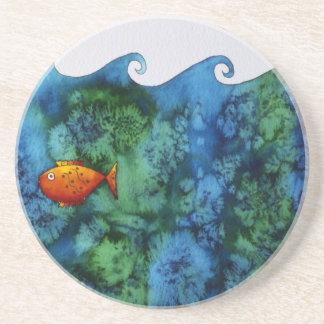 Goldfish in Bowl Drink Coaster