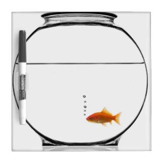 Goldfish in bowl dry erase board
