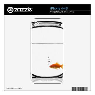 Goldfish in bowl iPhone 4S skins