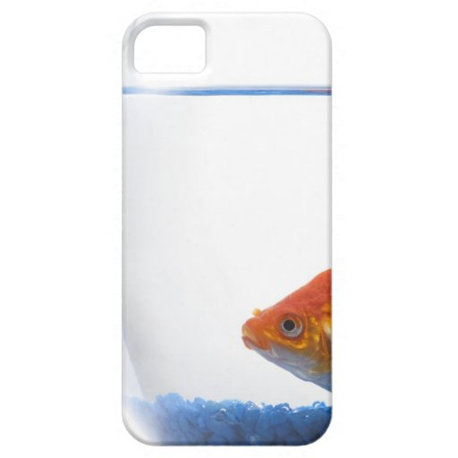Goldfish in bowl on white background iPhone 5 case