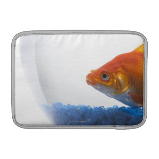 Goldfish in bowl on white background MacBook sleeve