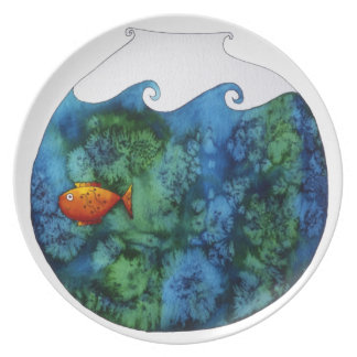 Goldfish in Bowl Plates