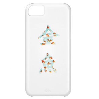 """Goldfish in """"Kingyo"""" Chinese characters (blue) iPhone 5C Cover"""