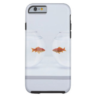 Goldfish in separate fishbowls looking face to tough iPhone 6 case