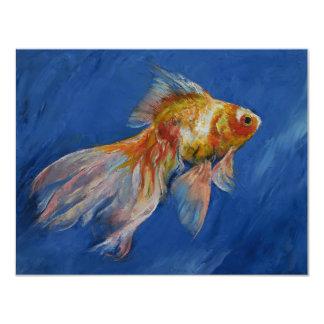 "Goldfish Invitación 4.25"" X 5.5"""