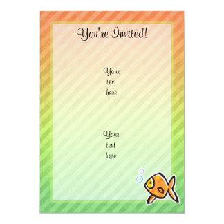 Goldfish 5x7 Paper Invitation Card