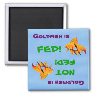 Goldfish Is Fed/Not Fed Magnet