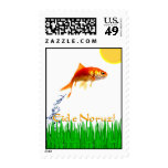 Goldfish Jumping Persia New Year Eid e Noruz Postage Stamps