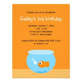 Goldfish Kids Birthday Invitations
