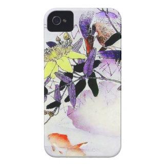 Goldfish Kingfisher Japanese print Case-Mate iPhone 4 Case