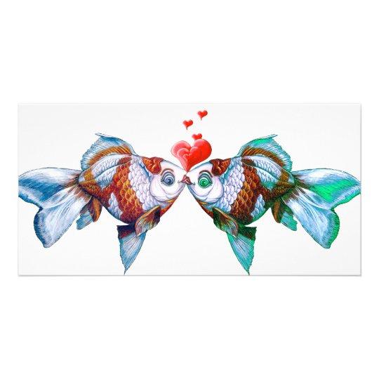 Goldfish Kiss Card