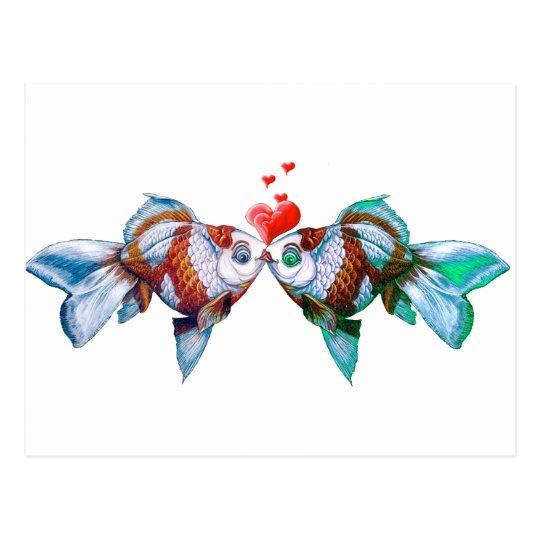 Goldfish Kiss Postcard