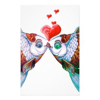 Goldfish Kiss Stationery