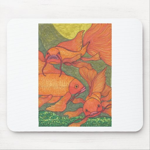 Goldfish - Koi Alfombrilla De Ratones