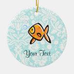 Goldfish; Lindo Adorno Navideño Redondo De Cerámica