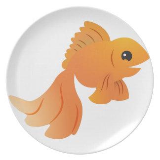 goldfish lindo del oro plato