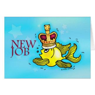 Goldfish lindo divertido del nuevo trabajo que lle tarjeta de felicitación