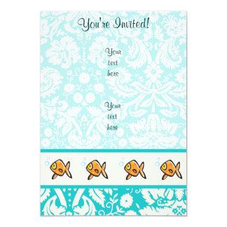 Goldfish; Lindo Invitación 12,7 X 17,8 Cm