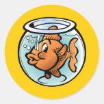 Goldfish lindo pegatina redonda