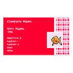 Goldfish lindo tarjetas de visita