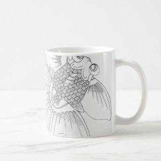 Goldfish Linework Coffee Mug
