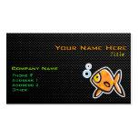 Goldfish liso tarjetas de visita