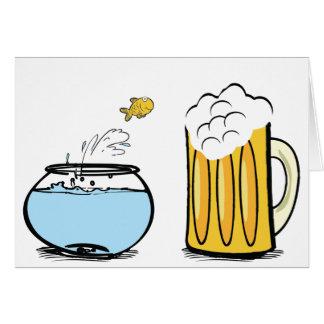 goldfish loves beer card