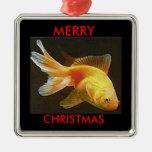 Goldfish Merry Christmas Ornaments