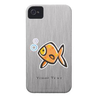 Goldfish; Metal-mirada cepillada iPhone 4 Fundas
