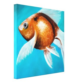 Goldfish Oil Painting Fine Art | Canvas Print