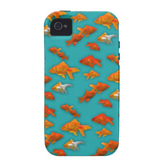 Goldfish on Turquoise Case For The iPhone 4