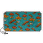 Goldfish on Turquoise Travel Speaker