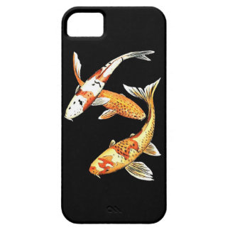 Goldfish oriental de Koi en negro iPhone 5 Case-Mate Protector