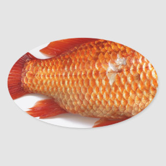 Goldfish Oval Sticker