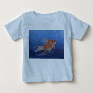 Goldfish painting on baby T-Shirt