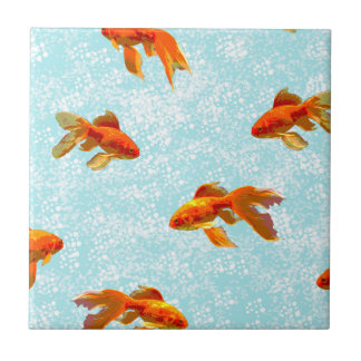 goldfish pattern ceramic tile