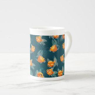 Goldfish pattern china mug