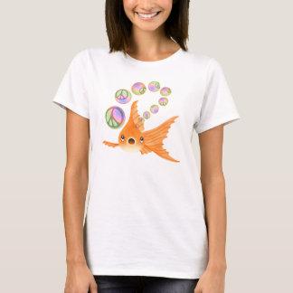Goldfish Peace Bubbles T-Shirt