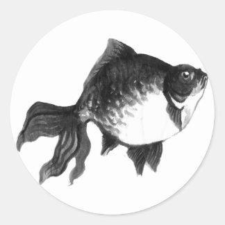 goldfish etiqueta redonda