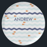 "Goldfish Personalized Plate for kids<br><div class=""desc"">Add a name to make this unique</div>"