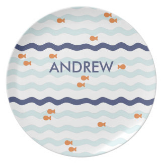 Goldfish Personalized Plate for kids