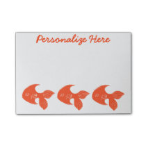 Goldfish Personalized Post-it® Notes 4 x 3